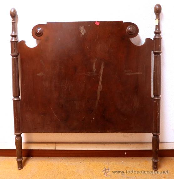 Cabecero en madera caoba para cama de 90 comprar camas - Camas de madera antiguas ...