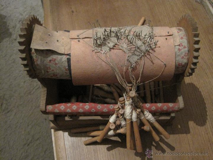Antigüedades: COJIN ENCAJE DE BOLILLOS - Foto 2 - 47081974