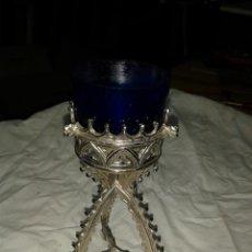Antigüedades: CANDELABRO S XIX PARA LAMPARILLA DE ACEITE. Lote 47082480