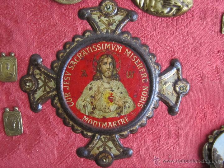 Antigüedades: BENDECIRE.MONTMARTRE.Chapa litografiada. - Foto 2 - 47090659