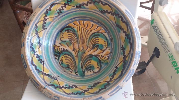 ANTIGUO LEBRILLO DE TRIANA , PINTADO A MANO (Antigüedades - Porcelanas y Cerámicas - Triana)