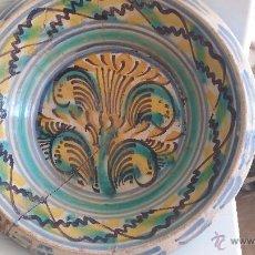 Antigüedades: ANTIGUO LEBRILLO DE TRIANA , PINTADO A MANO. Lote 47096196