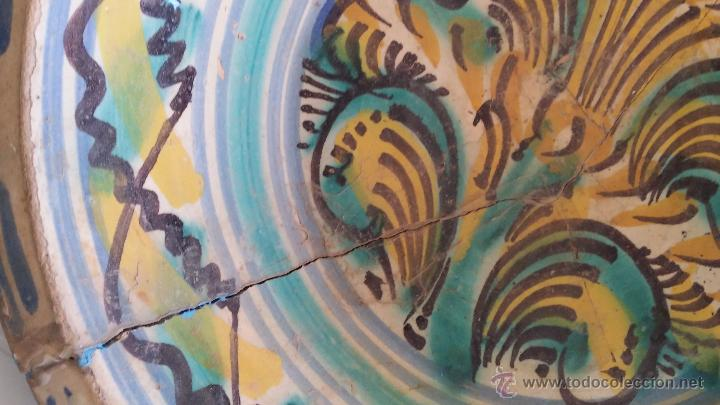 Antigüedades: antiguo lebrillo de triana , pintado a mano - Foto 4 - 47096196