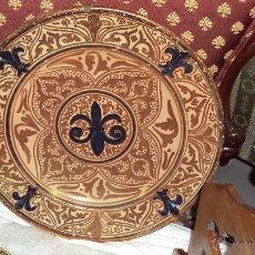 Antigüedades: PLATO DE REFLEJO METALICO - MANISES. Lote 47096392