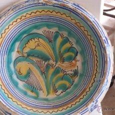 Antigüedades: ANTIGUO LEBRILLO DE TRIANA , PINTADO A MANO. Lote 47096480