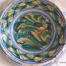 Antigüedades: ANTIGUO LEBRILLO DE TRIANA , PINTADO A MANO. Lote 112371750
