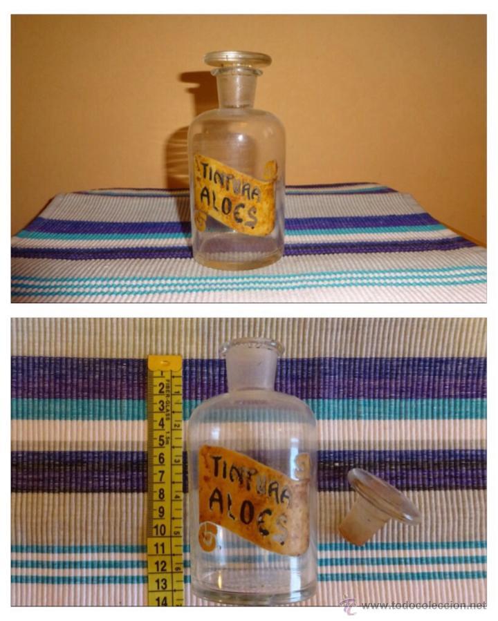 ANTIGUO FRASCO CRISTAL FARMACIA (Antigüedades - Cristal y Vidrio - Farmacia )