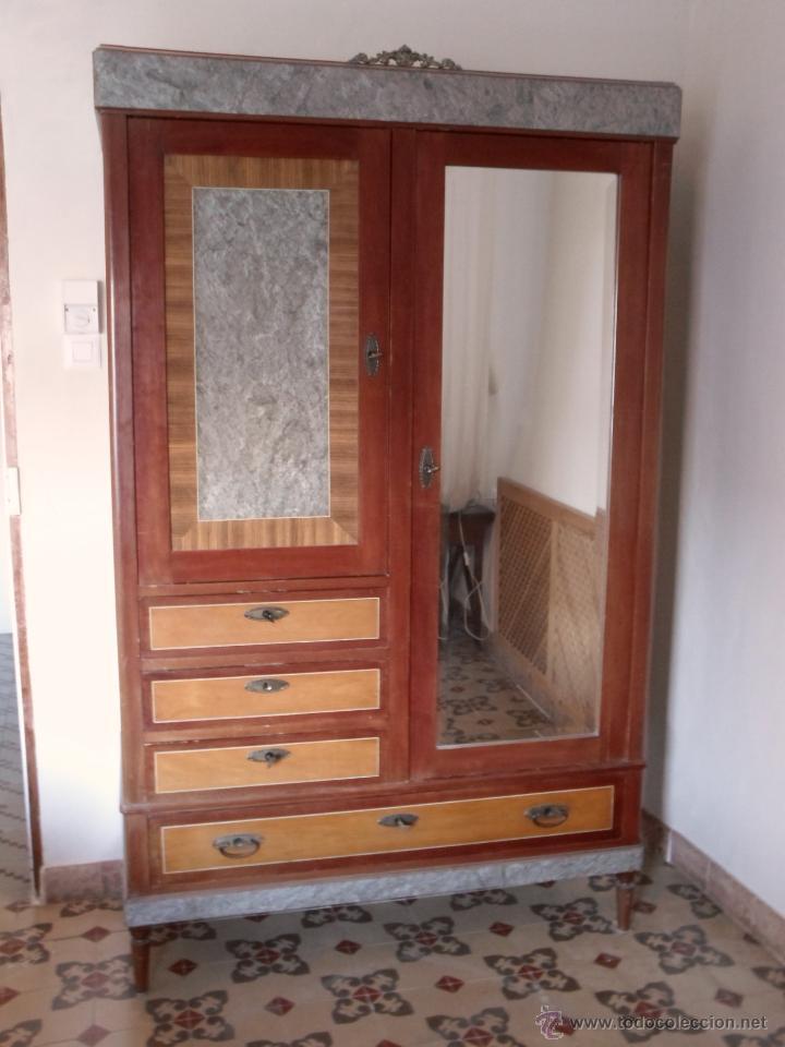 armario ropero con espejo biselado - Comprar Armarios Antiguos en ...