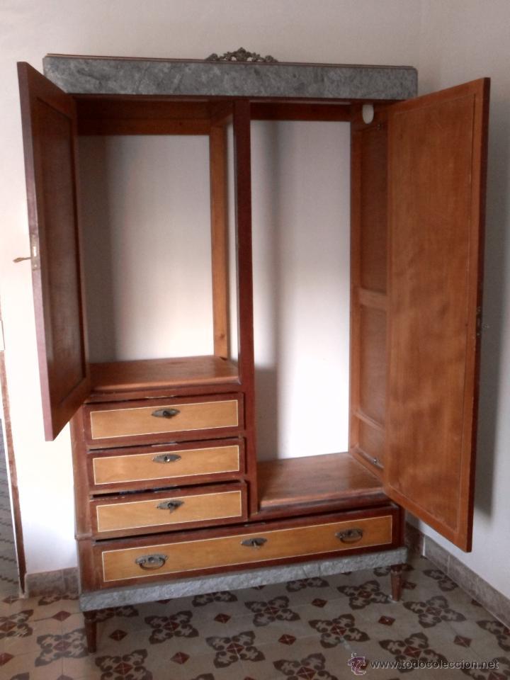 Aparador Corredor Apartamento ~ armario ropero con espejo biselado Comprar Armarios Antiguos en todocoleccion 47106437