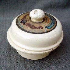 Antigüedades: TARRINA DE CERAMICA SARREGUEMINES -FOIE GRAS EDWARD ARTZNER- STRASBOURG. Lote 47108938