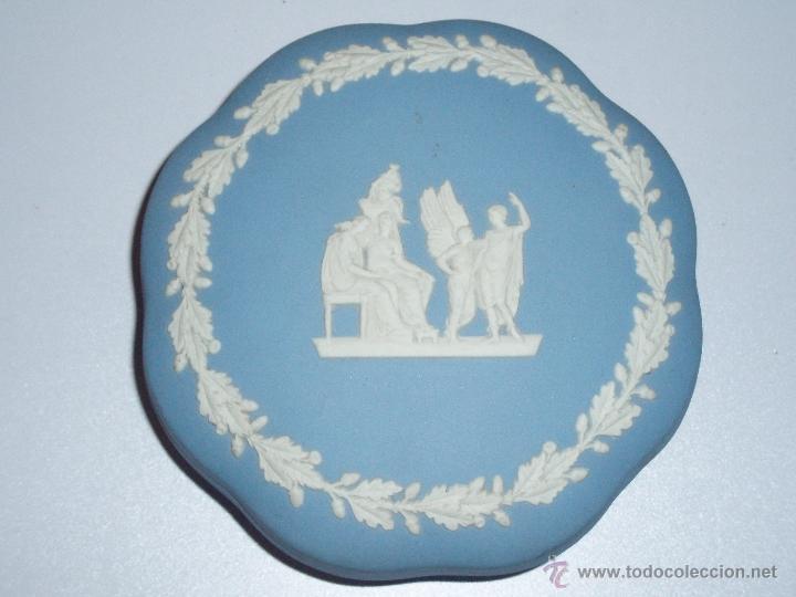 CAJA DE PORCELANA WEDGWOOD JASPER WARE (Antigüedades - Porcelanas y Cerámicas - Inglesa, Bristol y Otros)