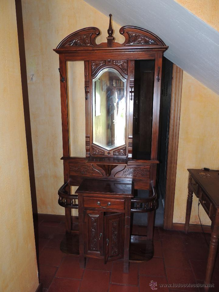 Perchero parag ero de caoba comprar muebles auxiliares - Percheros paragueros antiguos ...