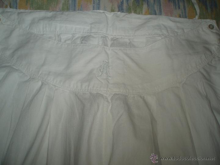 Antigüedades: enaguas o pololos para traje regional de algodon - Foto 3 - 47132945