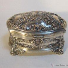 Antigüedades - CAJA JOYERO PLATEADO - 47134362