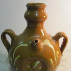 Antigüedades: VIEJO CÁNTARO DE CARRETA ,DE MANUFACTURA BISBALENSE. Lote 47154653