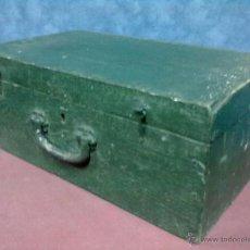 Antigüedades: MALETA MADERA.. Lote 47165002