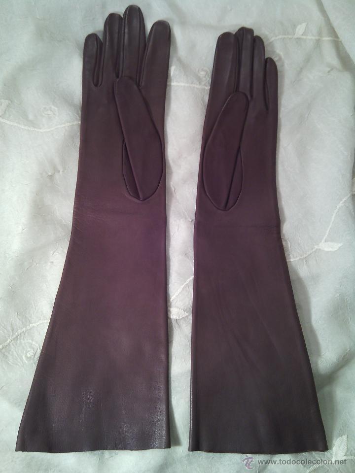 guantes largos de dama para vestir. piel marrón - Comprar Moda ...