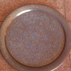 Antigüedades: PLATA GRANDE DE BRONCE. Lote 47186943
