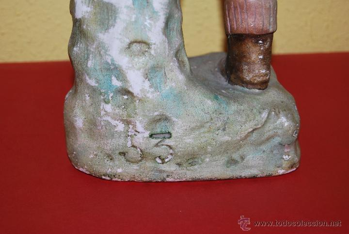 Antigüedades: ANTIGUO EXPOSITOR DE YESO - NARANJAS - ORTOLÁ - PEGO ALICANTE - FIGURA DE ESCAYOLA - NIÑO CON CESTOS - Foto 15 - 47187744