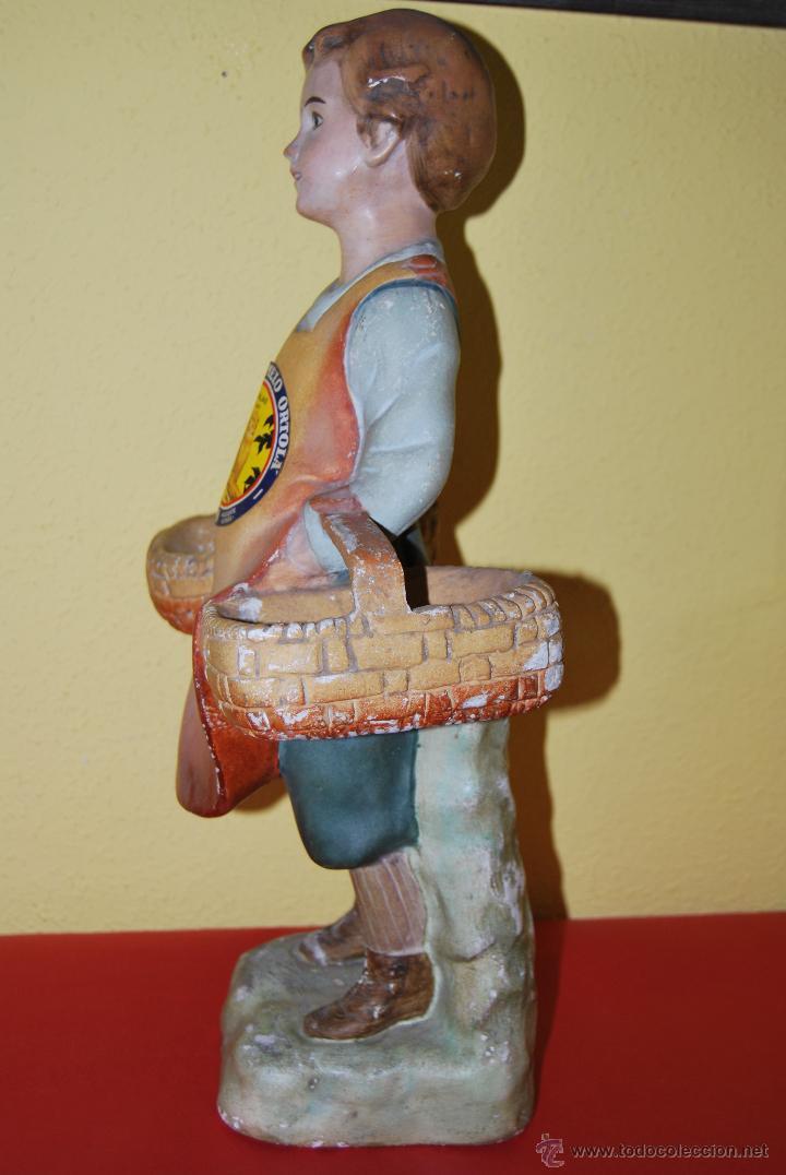 Antigüedades: ANTIGUO EXPOSITOR DE YESO - NARANJAS - ORTOLÁ - PEGO ALICANTE - FIGURA DE ESCAYOLA - NIÑO CON CESTOS - Foto 16 - 47187744
