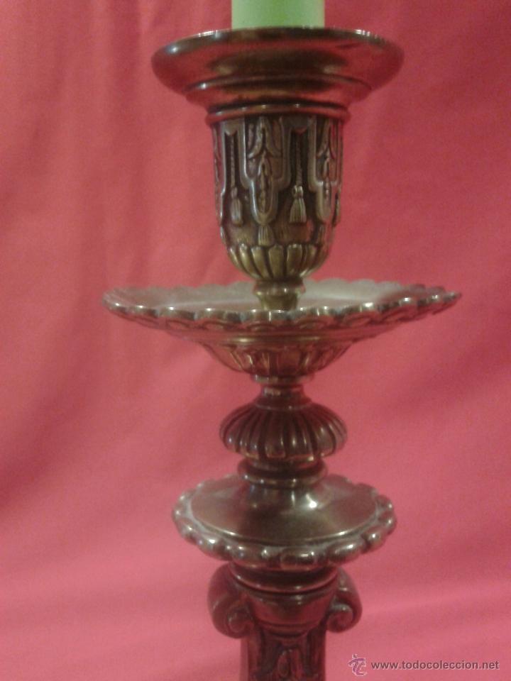 Antigüedades: Candelabro de bronce Siglo XIX - Foto 2 - 47193502