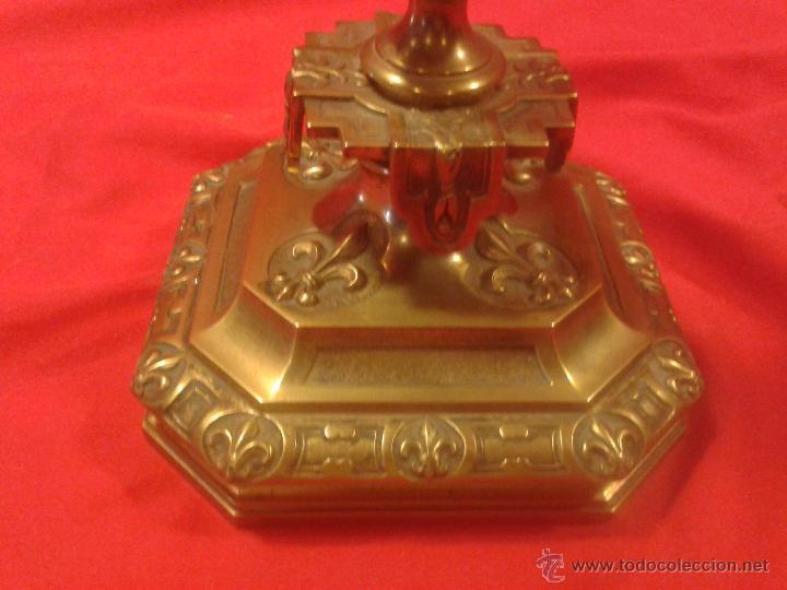 Antigüedades: Candelabro de bronce Siglo XIX - Foto 4 - 47193502