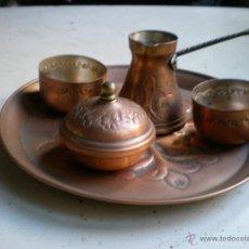Antigüedades: BANDEJA CON JUEGO DE TÉ. Lote 47193592
