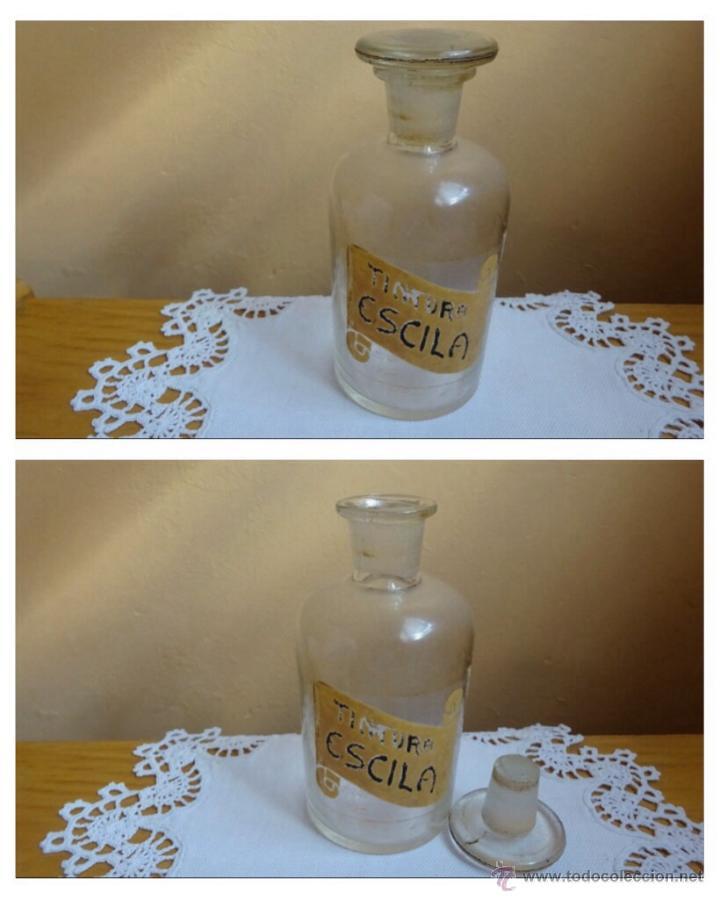 FRASCO CRISTAL ANTIGUO FARMACIA (Antigüedades - Cristal y Vidrio - Farmacia )