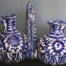 Antigüedades: ACEITERA Y VINAGRERA S. XX FAJALAUZA (CERÁMICA GRANADA). Lote 47203987