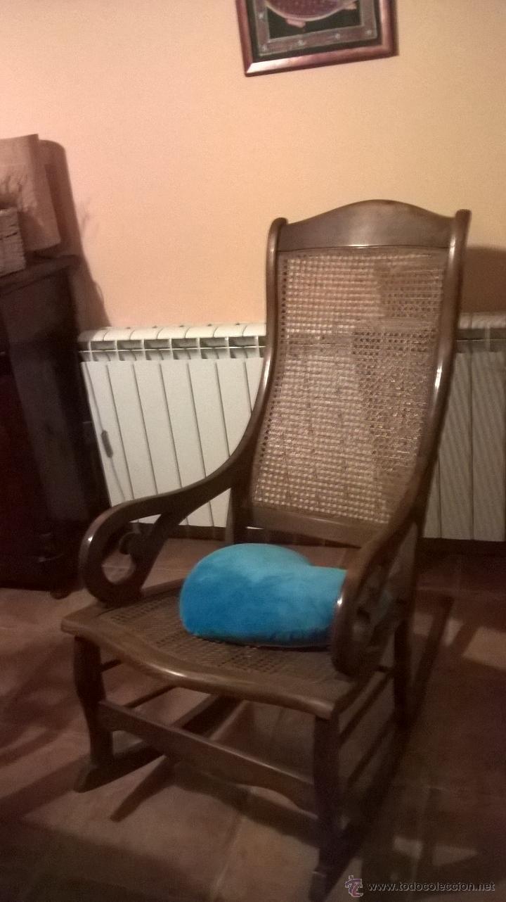 Balancin O Mecedora De Rejilla Caoba Comprar Sillones Antiguos  # Muebles Rejilla