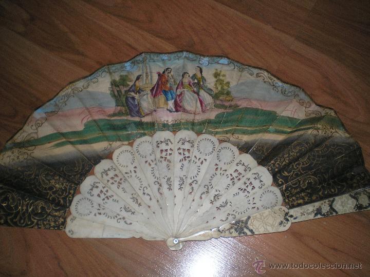 Antigüedades: ABANICO ISABELINO SIGLO XIX - Foto 2 - 47210133