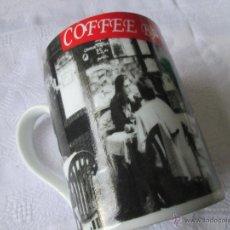 Antigüedades: TAZÓN CERÁMICA-COFFE BAR-BUEN ESTADO-10X7 CMS-VER FOTOS.. Lote 47221467