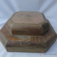 Antigüedades: PEANA O BASE DE MADERA PARA UNA VIRGEN.. Lote 47224562