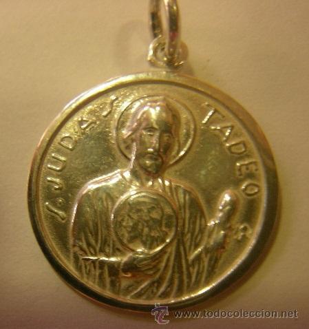 Medalla San Judas Tadeo En Plata De Ley 16mm Buy Antique Religious Medals At Todocoleccion 47240506