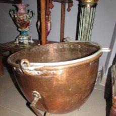 Antigüedades: ENORME OLLA-BALANZA ANTIGUA DE COBRE. Lote 47247730