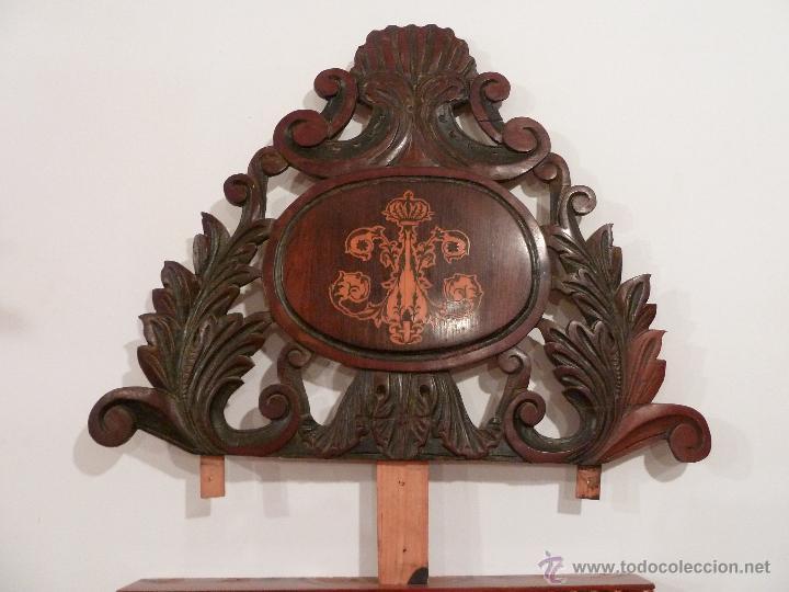 Cabezal de madera tallada con marqueter a incru comprar - Cabezal de madera ...