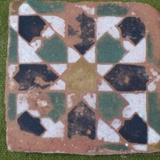 Antigüedades: AZULEJO ANTIGUO DE TOLEDO. TECNICA DE ARISTA - ARABE/MUDEJAR. PPOS. SIGLO XV.. Lote 47256844
