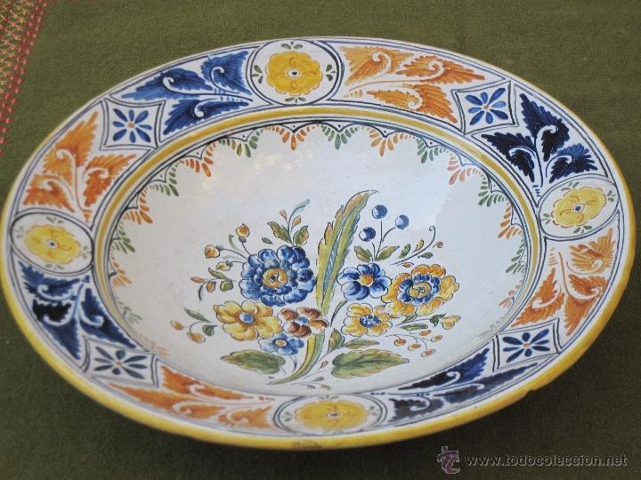 plato antiguo en ceramica de talavera toledo comprar