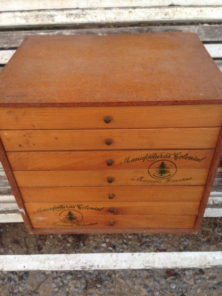 Mueble auxiliar merceria para hilos con cajones comprar for Muebles antiguos barcelona