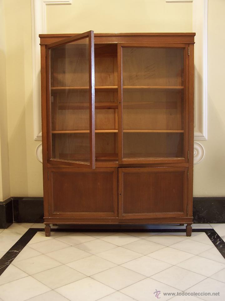 Antigüedades: Librería de madera antigua. - Foto 2 - 47282131