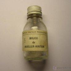 Antiguidades: ANTIGUA BOTELLA USADA DE MEDICAMENTO, INSTITUTO PASTEUR., AÑOS 1920. . Lote 47284409