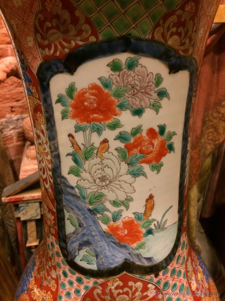 Antigüedades: extraordinario jarron japones imari s. xix, 80X40 - Foto 2 - 47286980