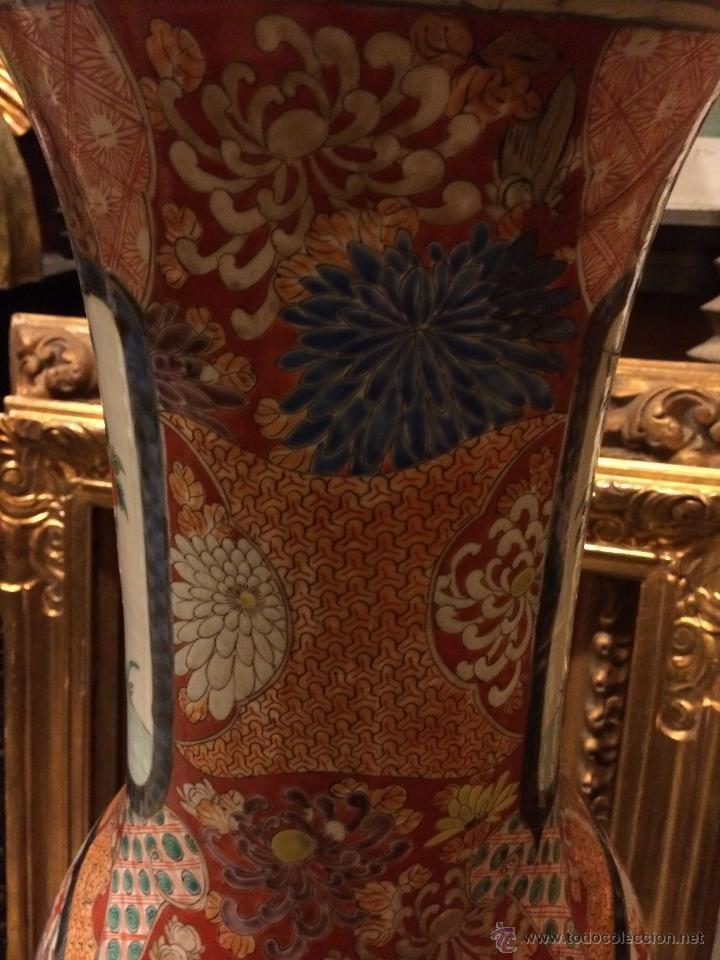 Antigüedades: extraordinario jarron japones imari s. xix, 80X40 - Foto 3 - 47286980