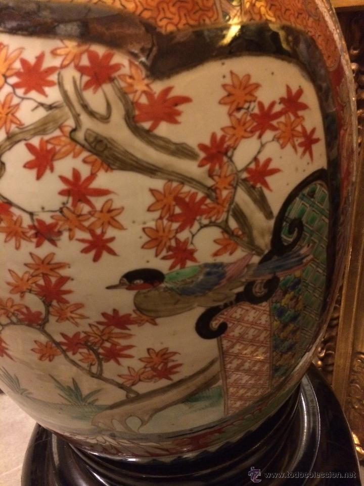 Antigüedades: extraordinario jarron japones imari s. xix, 80X40 - Foto 5 - 47286980