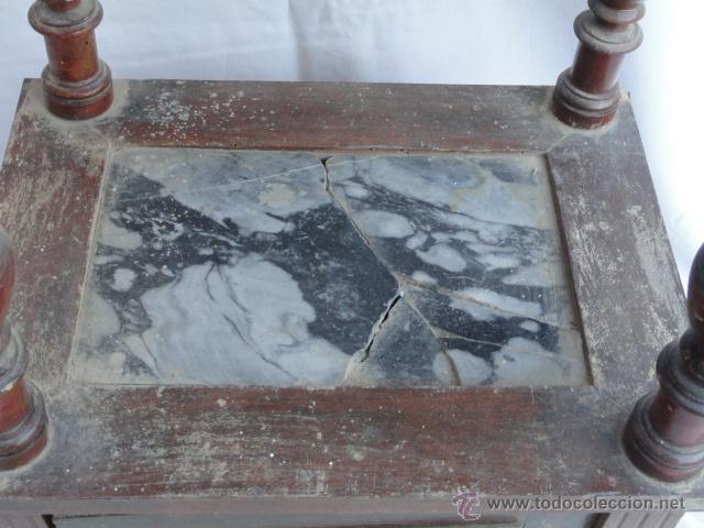 Antigüedades: BONITA MESITA AUXILIAR DE MADERA. - Foto 7 - 47288412