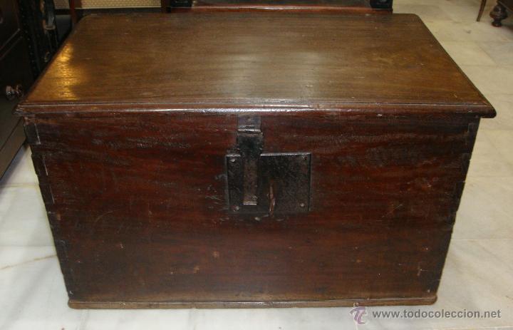 Antigüedades: Antiguo Arcón del S. XVIII. Cedro. Muy puro, sin restaurar y en muy buen estado. - Foto 2 - 47291358