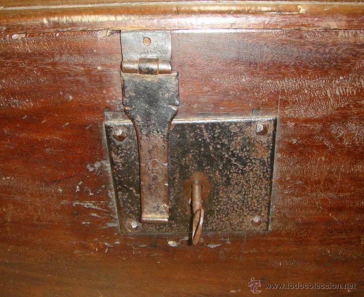 Antigüedades: Antiguo Arcón del S. XVIII. Cedro. Muy puro, sin restaurar y en muy buen estado. - Foto 3 - 47291358