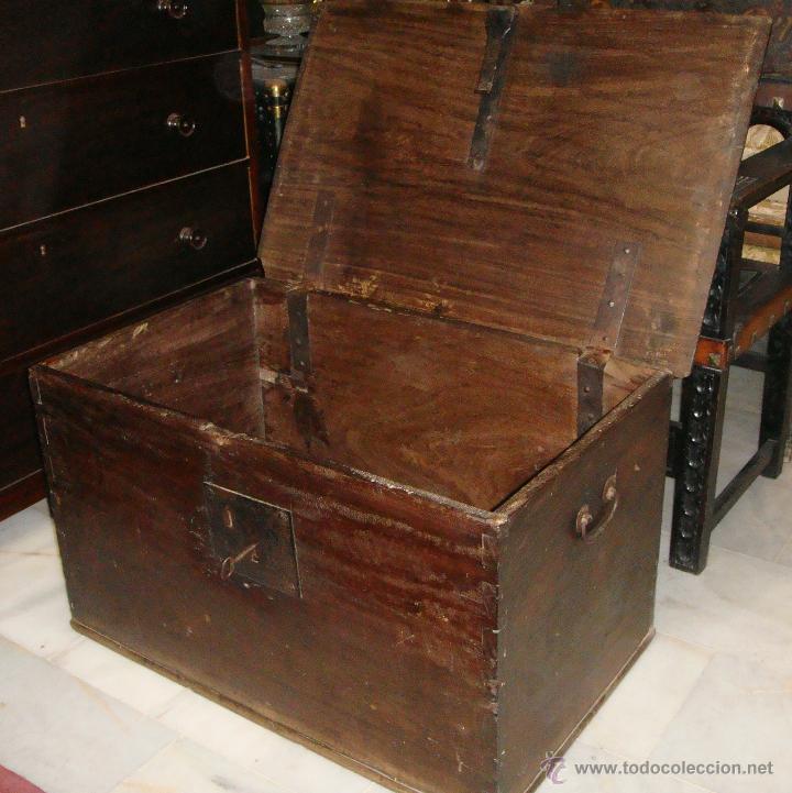Antigüedades: Antiguo Arcón del S. XVIII. Cedro. Muy puro, sin restaurar y en muy buen estado. - Foto 5 - 47291358