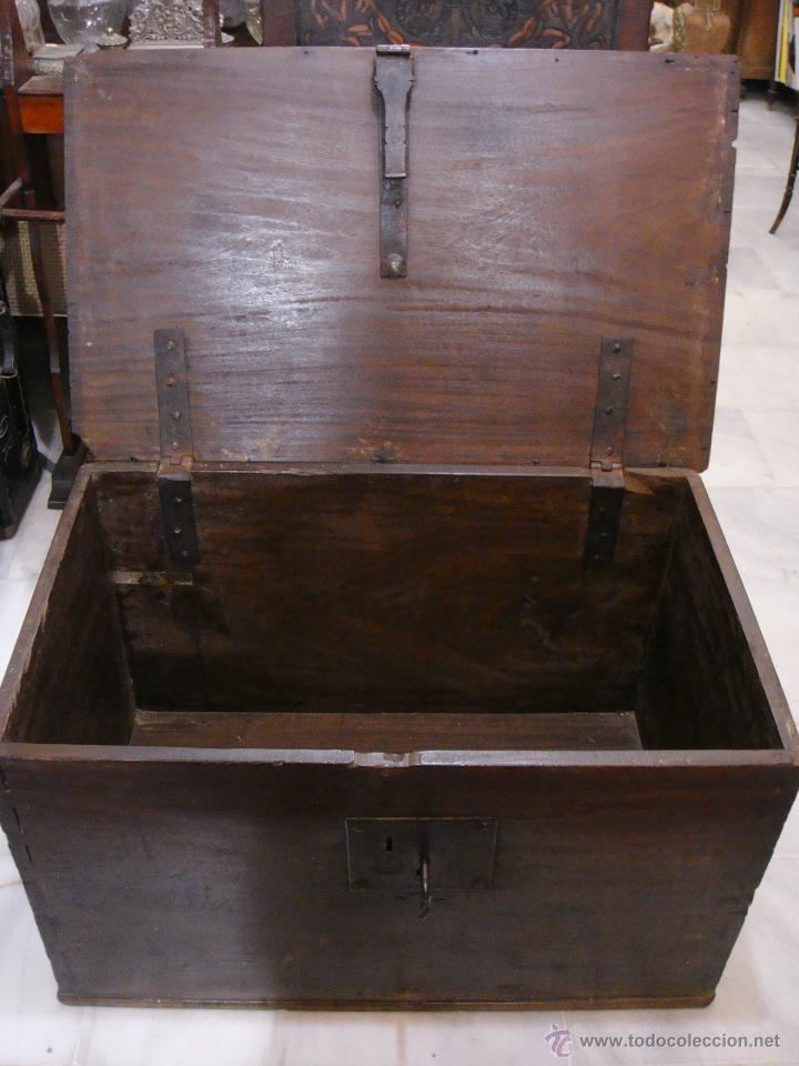 Antigüedades: Antiguo Arcón del S. XVIII. Cedro. Muy puro, sin restaurar y en muy buen estado. - Foto 6 - 47291358