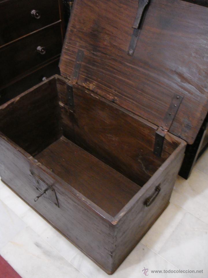 Antigüedades: Antiguo Arcón del S. XVIII. Cedro. Muy puro, sin restaurar y en muy buen estado. - Foto 7 - 47291358
